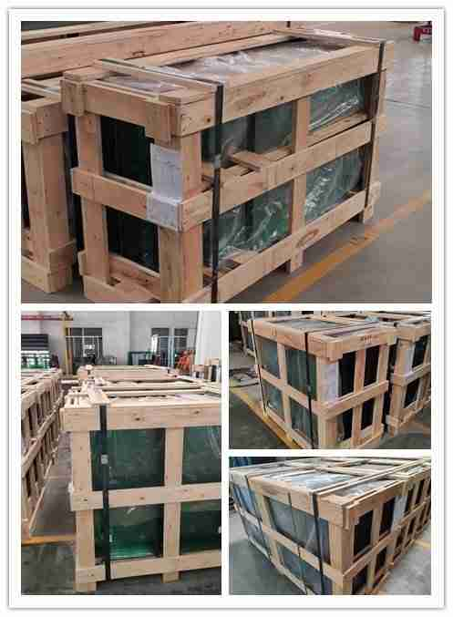 strong plywood crates packing for pool fencing glass