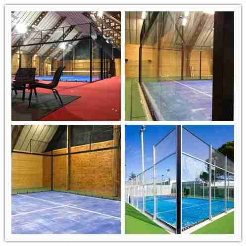 Glass padel court