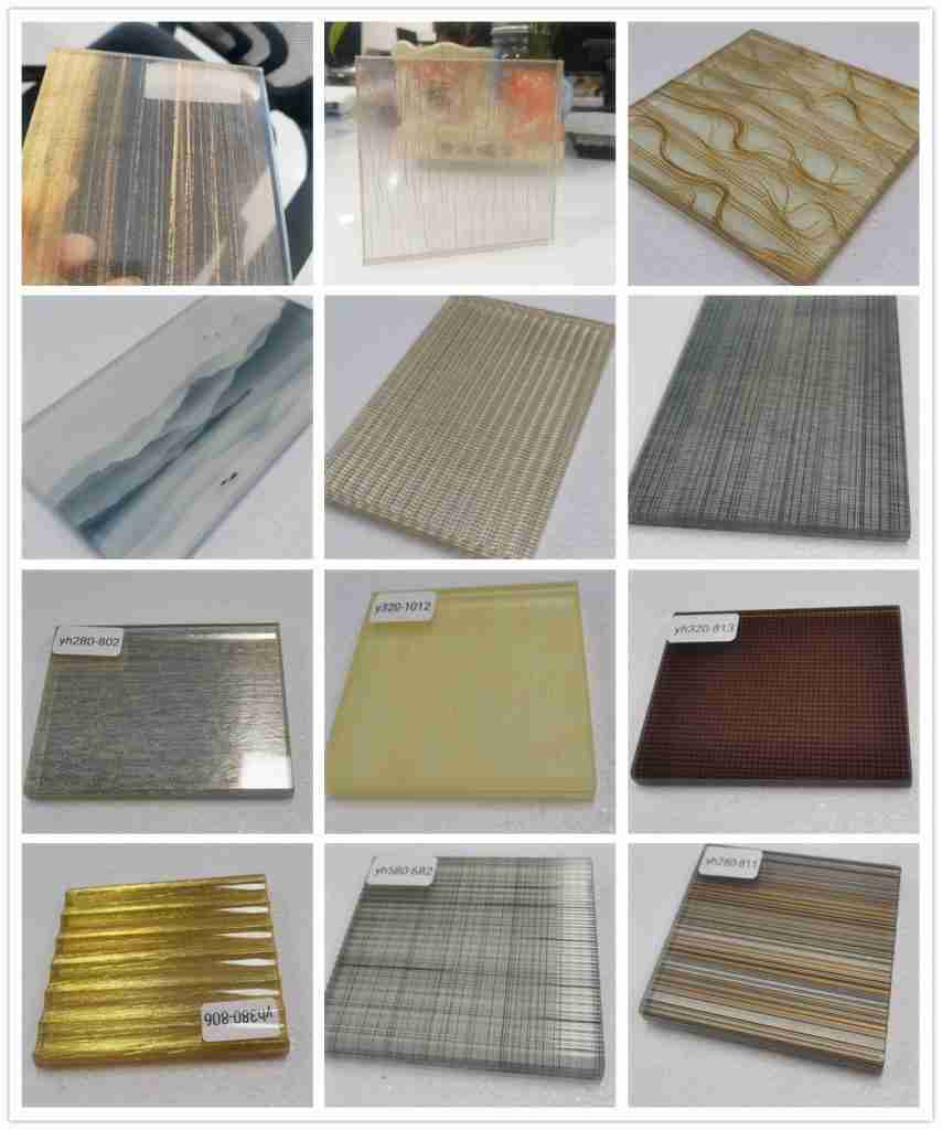 Eva lamination mesh laminated glass samples