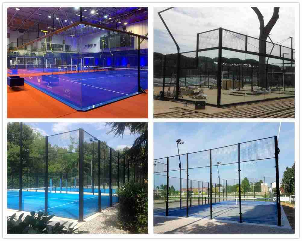 Padel court glass projects