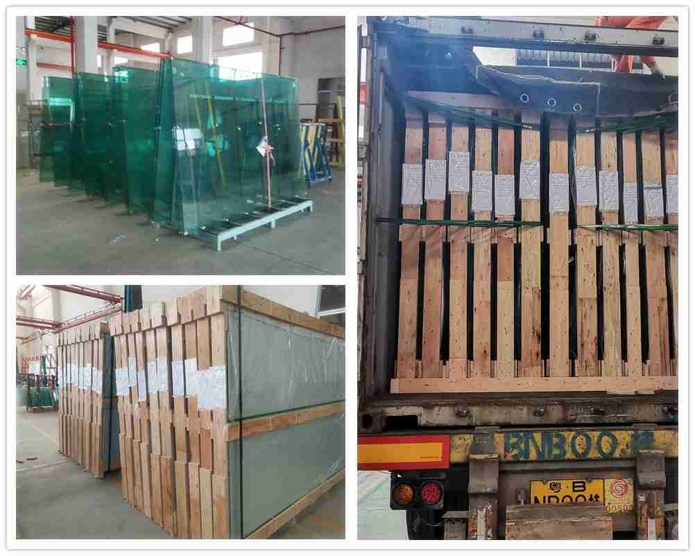 Super strong packing for 10mm & 12mm clear tempered glass for padel glass