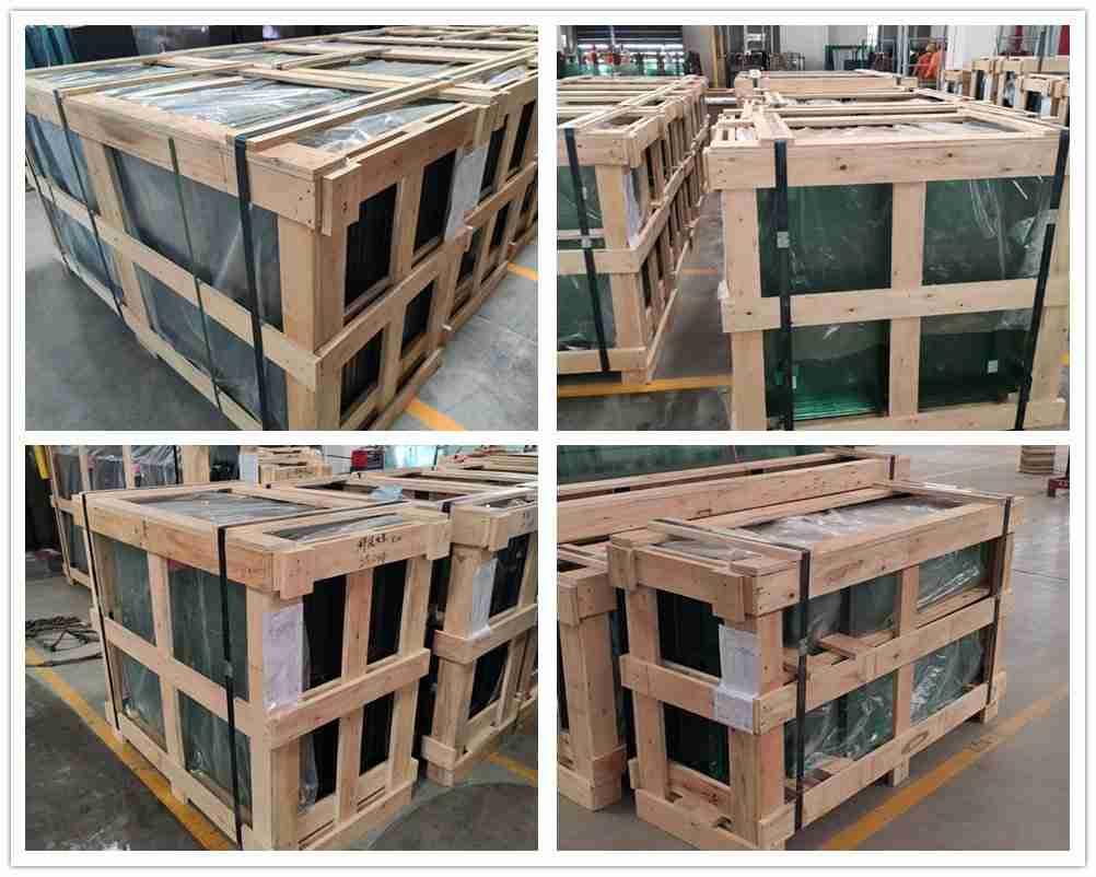 сильные ящики фанеры упаковки для рифленого стекла