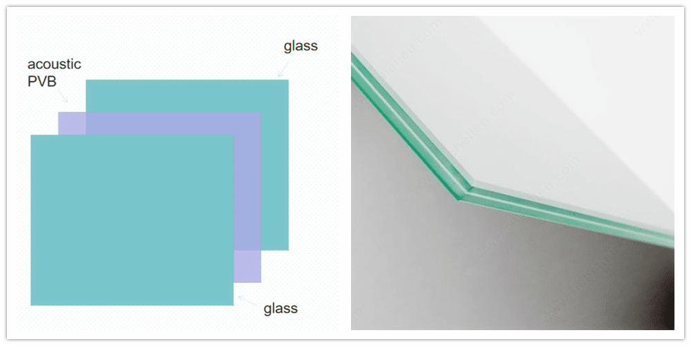 laminated acoustic glass structure
