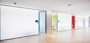 milky white glass partition