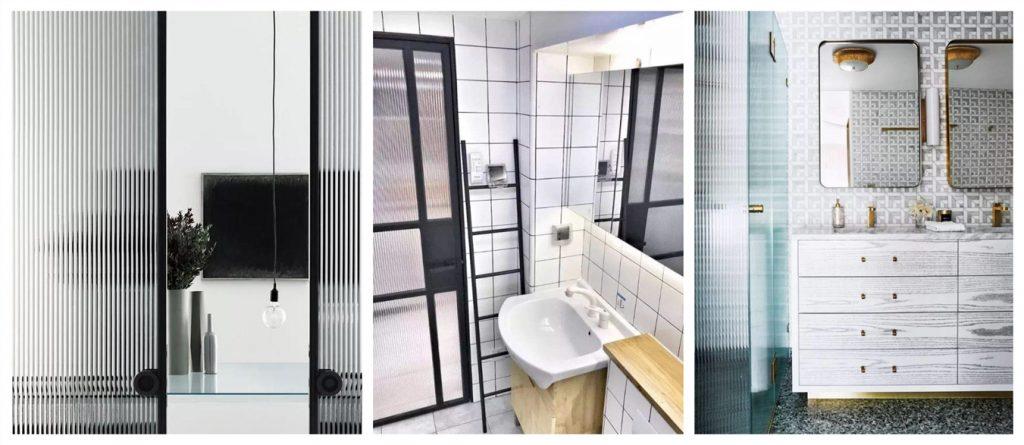 Shenzhen Dragon Glass proporciona una puerta de vidrio acanalado súper elegante de 8 mm con un precio competitivo