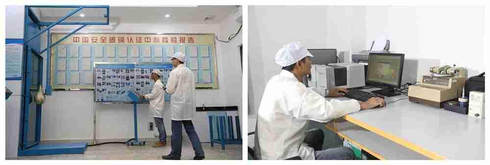 Shenzhen Dragon Glass contrôle de la qualité du verre