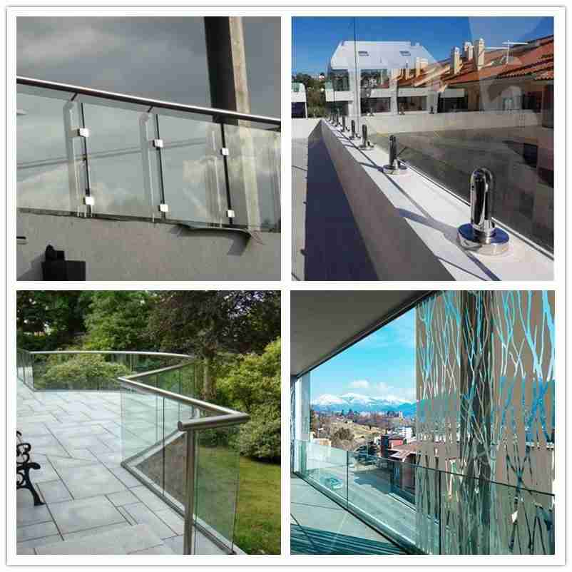 Balustrade en verre pour les applications de terrassement