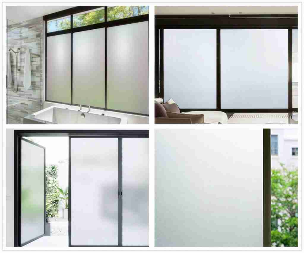 Frosted igu window glass price.