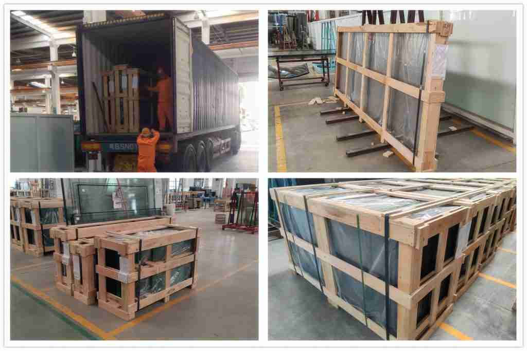 Packing details for igu glazing glass