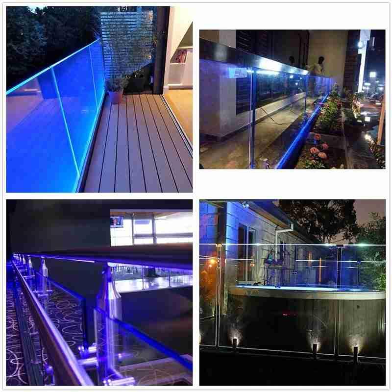 grade de convés de vidro iluminado