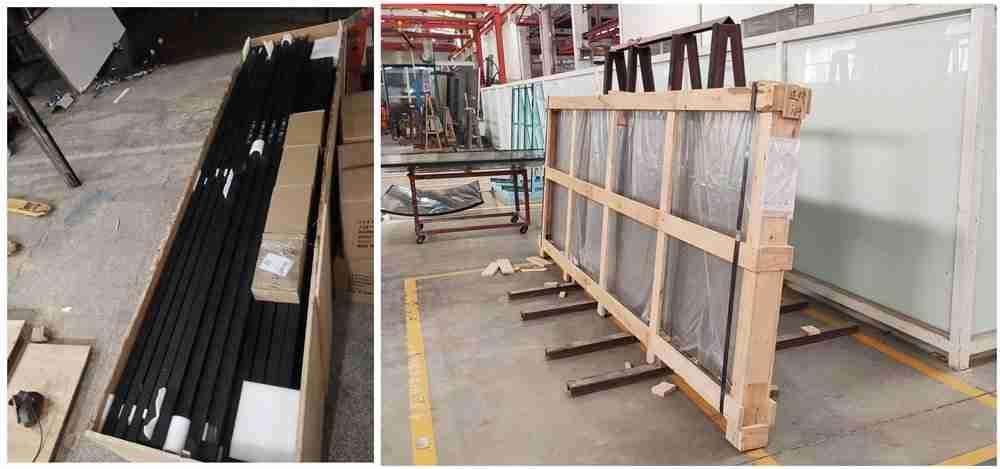 Shenzhen Dragon Glass fornece partição de vidro com costelas super alta para casa com 8mm 10mm 12mm de espessura