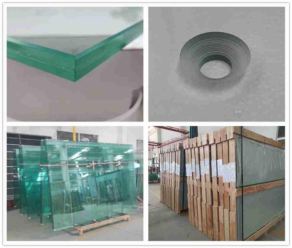 Shenzhen Dragon Glass fornecem painéis de vidro laminados de alta qualidade super seguros de 13,52 mm para quadra de tênis padel.