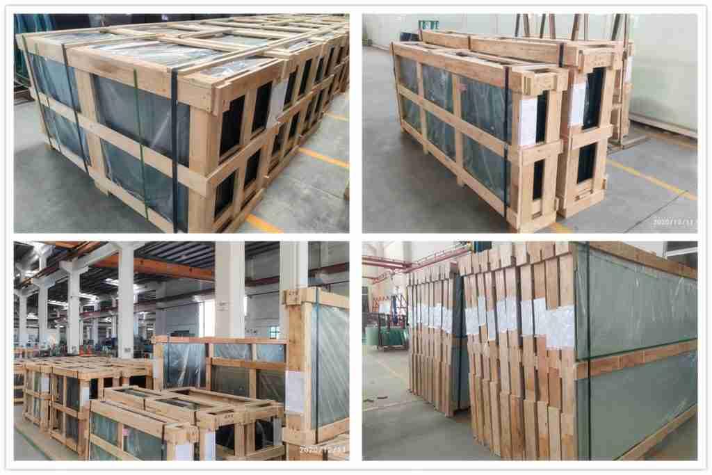 Сильные фанерные ящики упаковки для стеклянной балюстрады продуктов