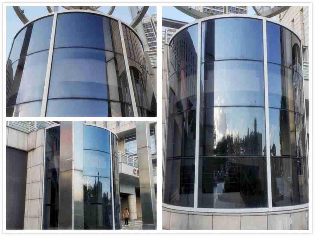 Светло-серое стекло для стекла лифта