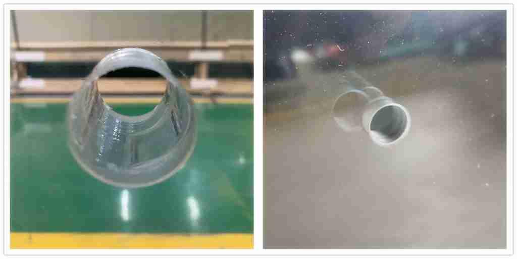Бурение отверстий для 15 мм ясно изогнутые закаленные стекла точно.