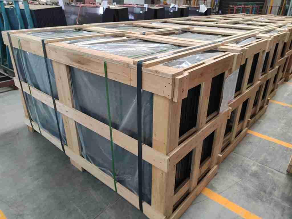 Сильные фанерные ящики упаковки для светло-серого стекла