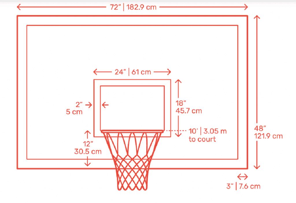 Tempered glass basketball backboard