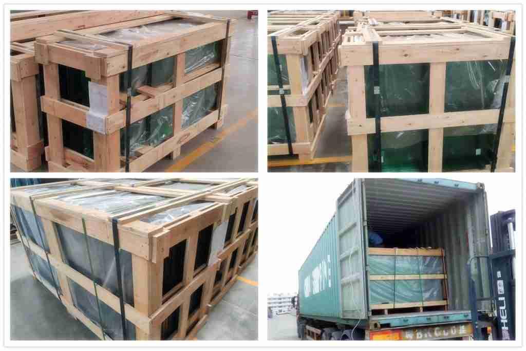 Caisses de contreplaqué solides emballage et livraison.