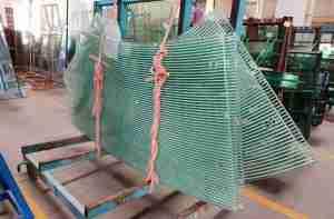 Shenzhen Dragon Glass provide 21.52mm laminated canopy glass with super elegant silk screen printed design