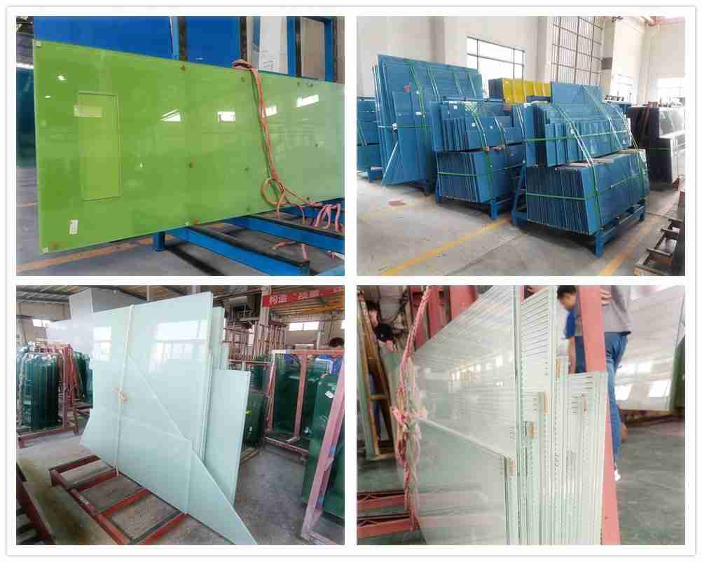 Decorative laminated glass products.