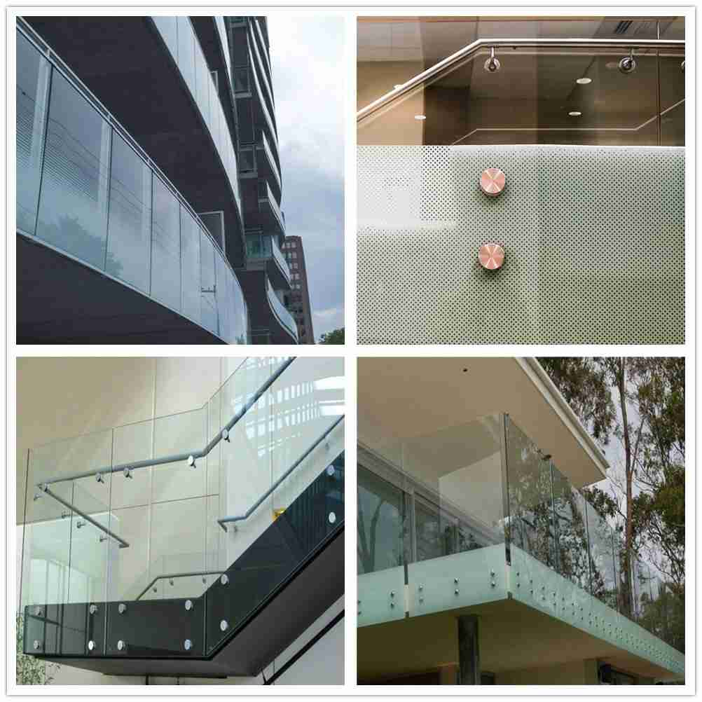 sistema de grades de vidro ao ar livre, grade de vidro exterior, balaustrada de vidro ao ar livre