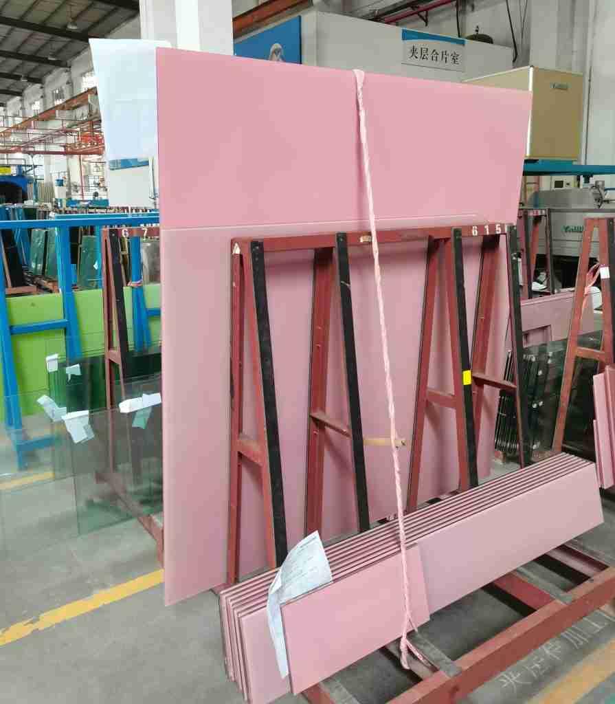 الوردي الزجاج مغلفة ، والزجاج السيراميك الوردي fritted ، والزجاج الوردي