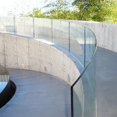 curved toughened glass railing
