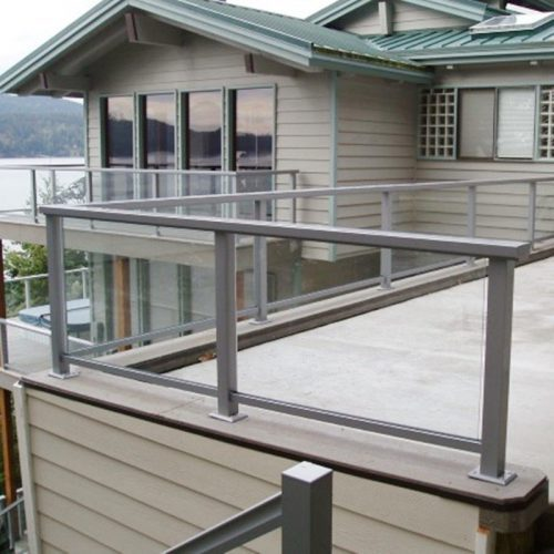 toughened glass railing system