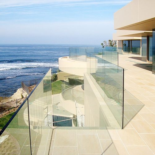 clear toughened glass for beach hotels